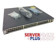 Cisco Catalyst (WS-C3750G-48TS-S) Switch 48 Gigabit Ethernet 4 Gigabit SFP Ports