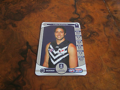 2014 Team Coach Silver Unused Code Fremantle 21 Luke Mcpharlin Teamcoach Card Fine Craftsmanship Australian Football Cards