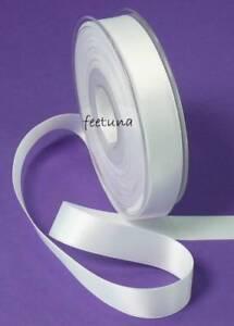 25 M Ruban Satin (0,48 €/m) Fixation 16 Mm Mariage Blanc Satin-afficher Le Titre D'origine