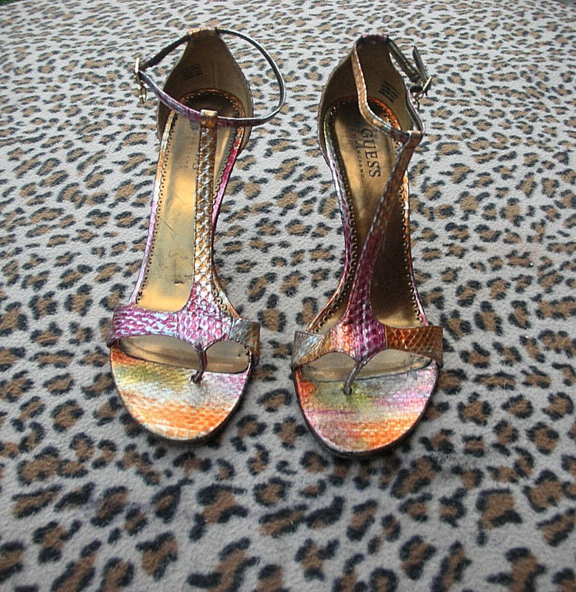 Guess EU by Marciano Leder snakeskin effect high heeled Sandales EU Guess Größe 39, UK 6 d2da76