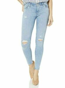 Levi-Womens-Levis-SUPER-SKINNY-710-Blue-Ripped-X-Jeans-Brand-NEW-Girl-RRP-85