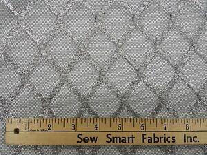 Woven-Metallic-Silver-on-Black-Net-54-034-W-8-yd-piece-Can-CTO