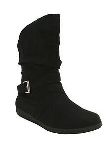 Rampage-Negro-Botines-Imitacion-ante-Creting-Mujer-Zapatos-Us-5
