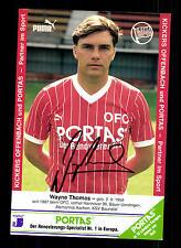 Wayne Thomas Autogrammkarte Kickers Offenbach Original Signiert + G 13533