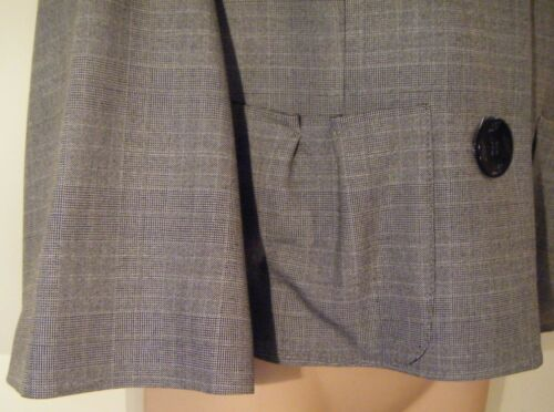 Womens Jacket Coat Size 12 New Ladies Apart Fine Grey Check Cropped 3//4 Sleeve