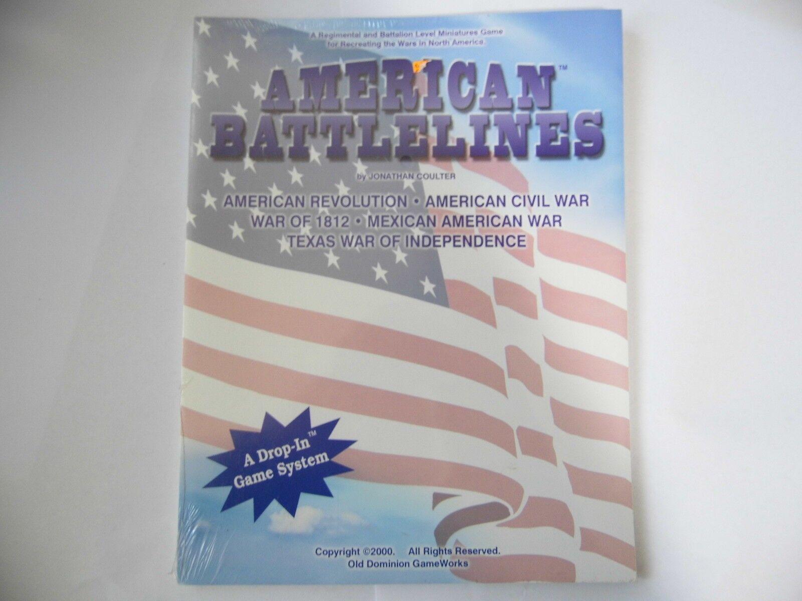 AMERICAN BATTLELINES  - WARGAMES RULES - NEW SEALED