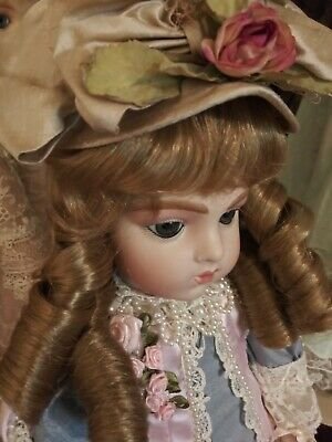 SYNTHETIC HUMAN HAIR DOLL WIG DK BLONDE 9//10 ANTIQUE  BRU FRENCH JUMEAU GERMAN