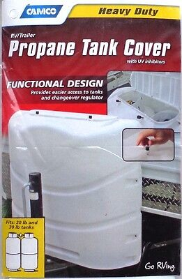 Camco 40543 White Replacement Cap Kit RV Propane Tank Cover