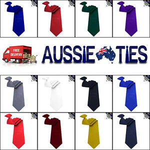 MENS-CLIP-ON-TIE-8-5CM-bouncer-security-pre-tied-CHOOSE-COLOUR