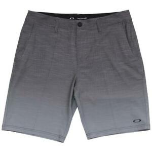 Oakley-Leo-Shorts-Size-30-S-Mens-Black-Grey-Gradient-Casual-Boardies-Boardshorts