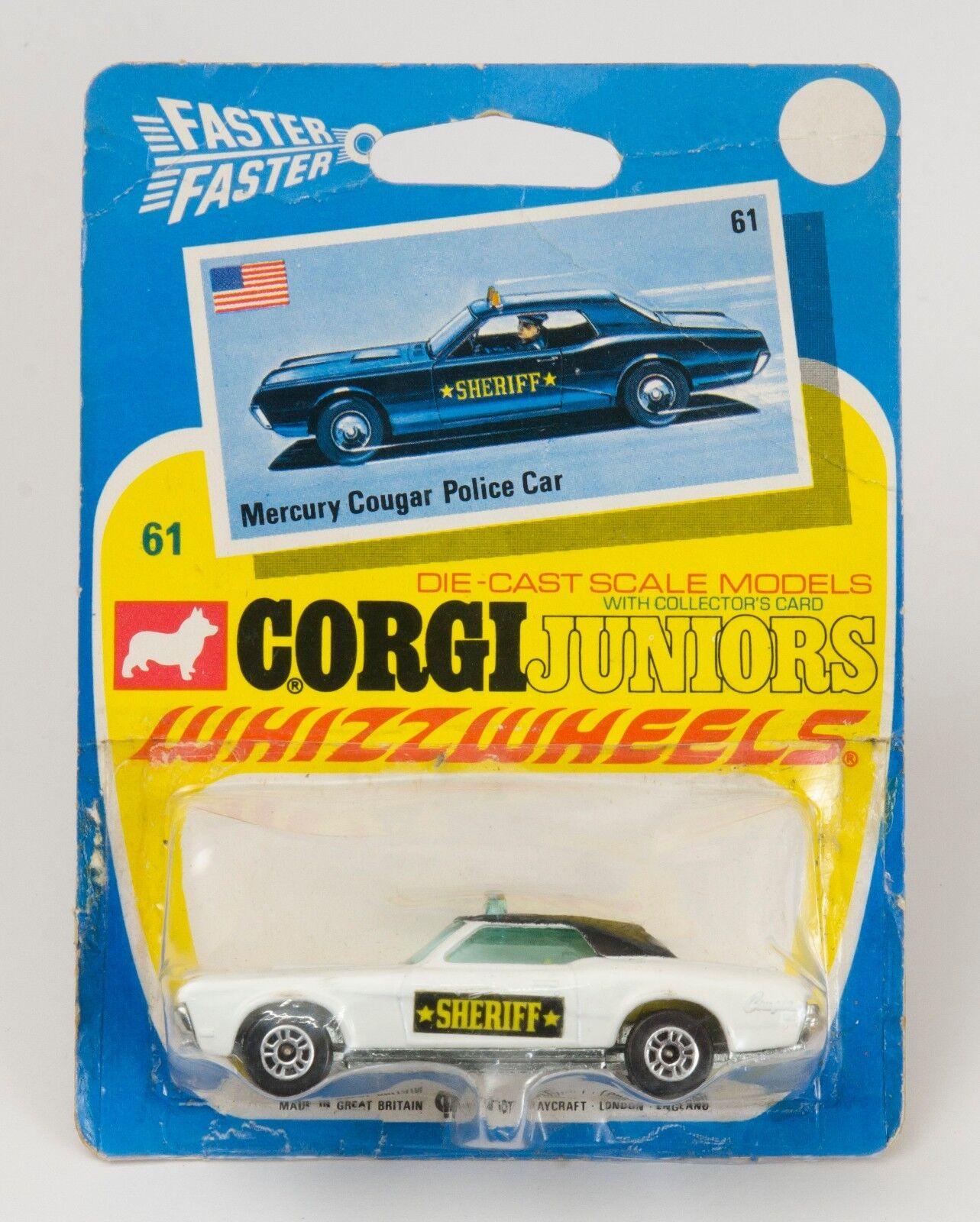 Corgi Juniors nr 61 Mercury Cougar Police bil.Vänta.1970 -talet