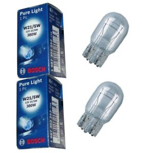 BOSCH 2x Glühlampe Pure Light W21/5W 12V 21/5W 380W W3x16q