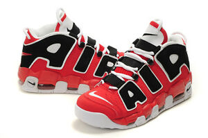 UK sale Men Nike Air More Uptempo Scottie Pippen In Red Black Shoes