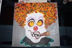 Creepy-freaky-Scary-Clown-Canvas-Oil-Painting-12-x-12