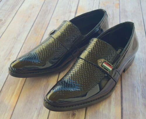 Wholesale NICE ITALIAN STYLE MENS DRESS/CASUAL SHOES COLOR BLACK FINISH EXCELLENT QUALITY  supplier