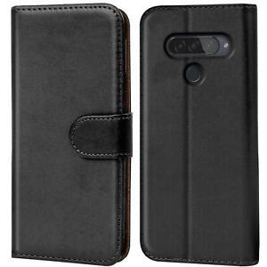 Book-Case-fuer-LG-Q60-Huelle-Flip-Cover-Handy-Tasche-Schutz-Huelle-Schale