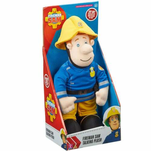 Plush Talking Singing 12in Fireman Sam Soft Cuddly Toy with Sound and Phrases