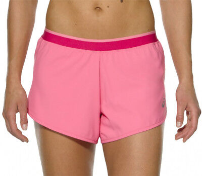 Asics 2 In 1 Womens Running Shorts Pink Ladies Gym Sports Training Short Bestellungen Sind Willkommen.