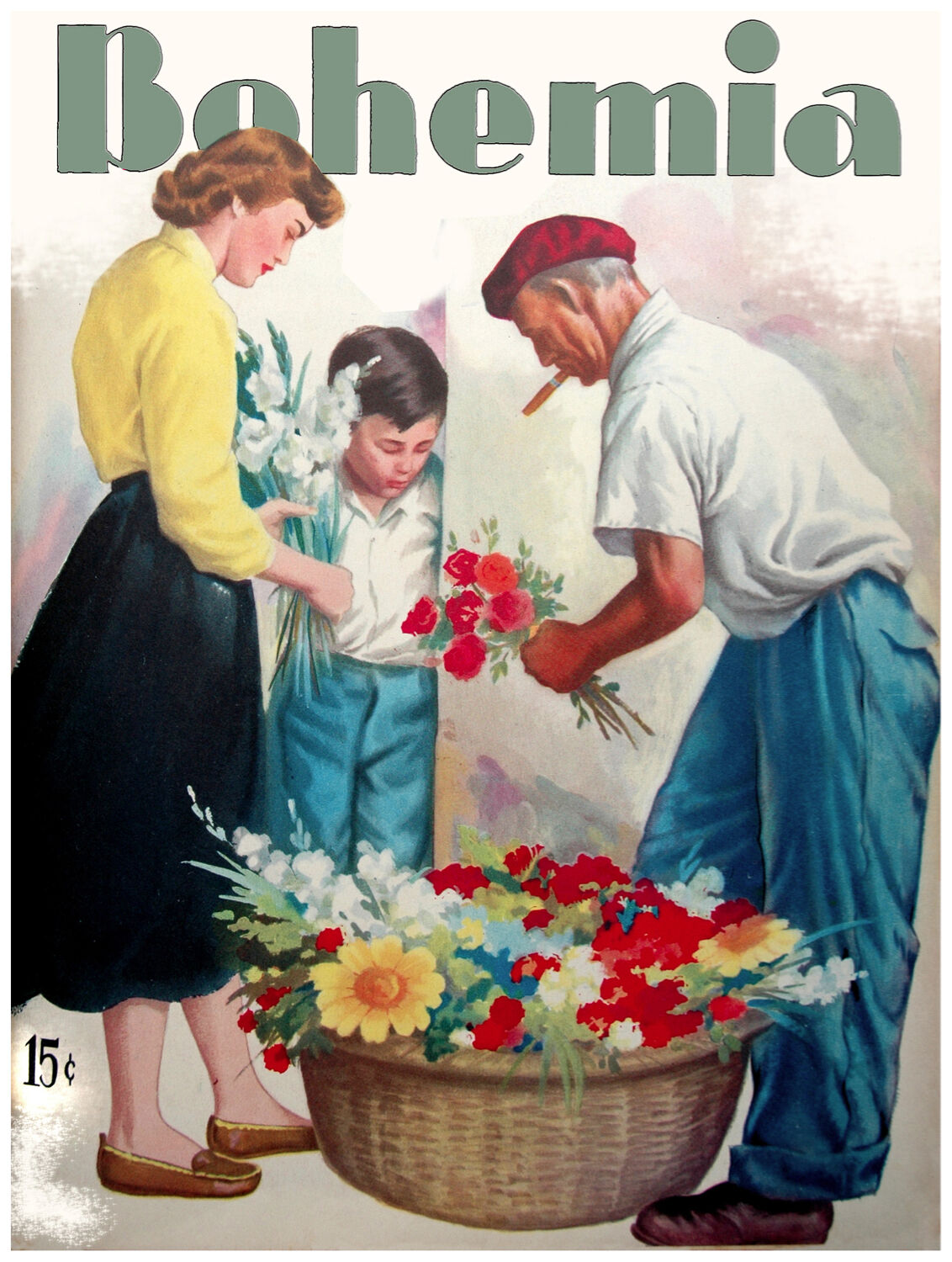 134.Art Decoration POSTER.Graphics to decorate home office.Bohemia Flower vendor