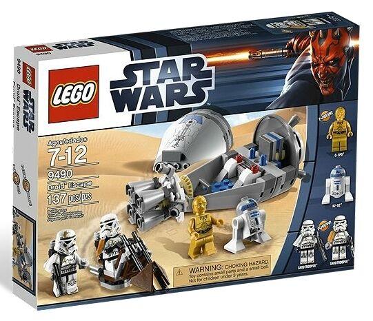 Lego Star Clone Wars 9490 DROID ESCAPE C3PO R2D2 Stormtrooper Minifigure NISB