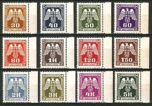 DR-Nazi-Reich-Rare-WW2-Stamp-Eagle-with-Swastika-over-Praga-Occupation-Service-S