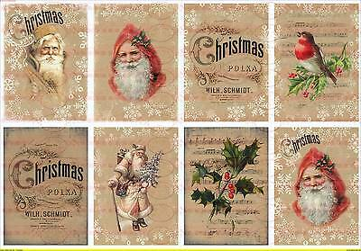 Spielzeug 1696 VerrüCkter Preis Bügelbild Shabby Weihnachten Weihnachtsmann French Vintage A4 No