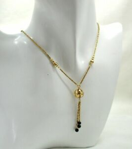 Lovely-9-Carat-Gold-And-Black-Onyx-Dropper-Necklace