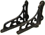 "new set of 2 cast iron shelf brackets very small 3.5"" x 4"" antique-style rustic"