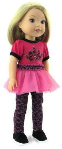 "Princess Leggings Set for 14.5/"" American Girl Wellie Wishers Wisher Doll Clothe"
