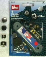 PRYM Ganci e spranghette per pantaloni 13 mm argento//ossido 265811