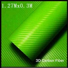 New Carbon Fiber Vinyl Wrap Sticker 3d 12703m Premium Matte Green