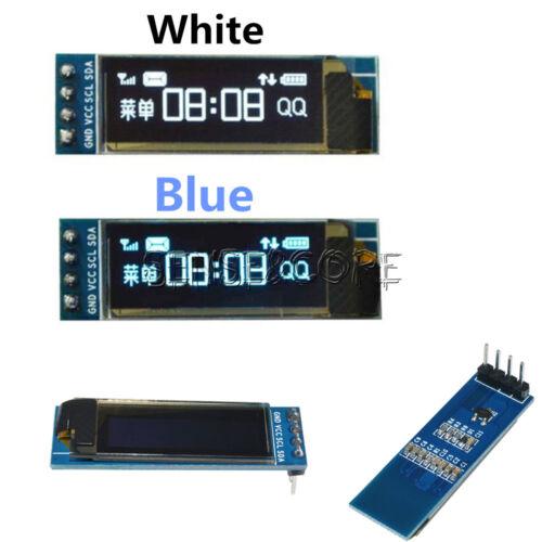 """0.91/"""" IIC I2C SPI 128x32 White//Blue OLED LCD Display Module GND VCC SCL SDA Neu"""