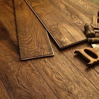 19cm Wide Medium Oak Oiled Distressed