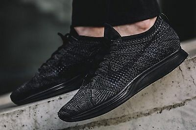 check out 98128 bec6b DS MENS NIKE FLYKNIT RACER 526628 009 TRIPLE BLACK RUN NOBOXLID SZ 5.5 AIR  FREE