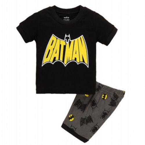 Kid Boy Girl Pajama T-Shirt Toddler Sleepwear Soft Nightwear Tops Pants Outfits
