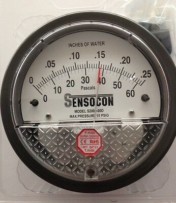 alternative to Dwyer Magnehelic Sensocon Pressure Gauge 0-60PA//0-0.25 In w.c