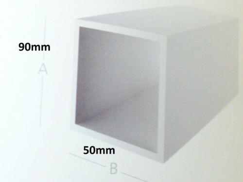 """/""""7,70€//m/"""" 90x50 mm PVC Rohr Vierkantrohr Weiß Deckleiste Kabelkanal Fenster"""