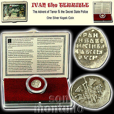 Russian First Romanov Dynasty Silver Coin in Box COA WIRE MONEY OF MICHAEL I