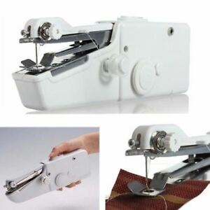 Arte y antigüedades Mini Portable Cordless Handheld Single Stitch Fabric Sewing Machine with BONUS Máquinas de coser