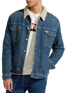 Xl L Xxl Room M Jeans S Jacket Trucker Man Green Skin Sherpa Wrangler qnWOc1AU
