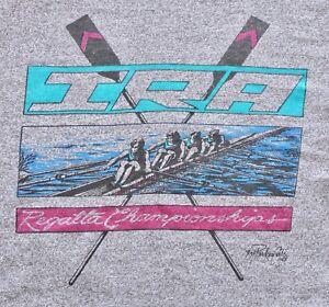 RARE-Vintage-1988-IRA-Regatta-Championships-Tank-Top-LARGE-Gray-Rowing