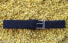 Schwarzes Uhrenarmband 20 mm Stingray Skin Rochen Perlfisch  watch strap  20mm