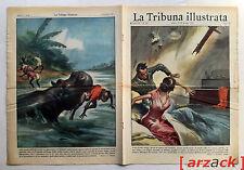 LA TRIBUNA ILLUSTRATA 26 FULMINE COLPISCE CAMERA SPOSINI Fausto Coppi 22/6/1952