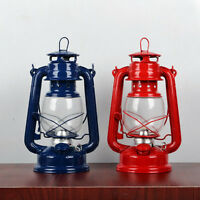 Vintage Oil Lamp Lantern Outdoor Camping Kerosene Hurricane Lamp Light 4 Colors