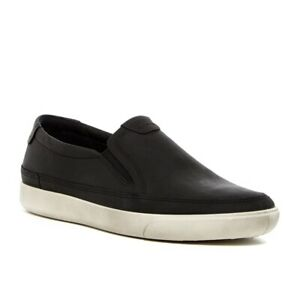 Ecco-Men-039-s-Gary-Slip-On-Fashion-Sneaker-Comfort-Loafer-Nubuck-Leather-Black