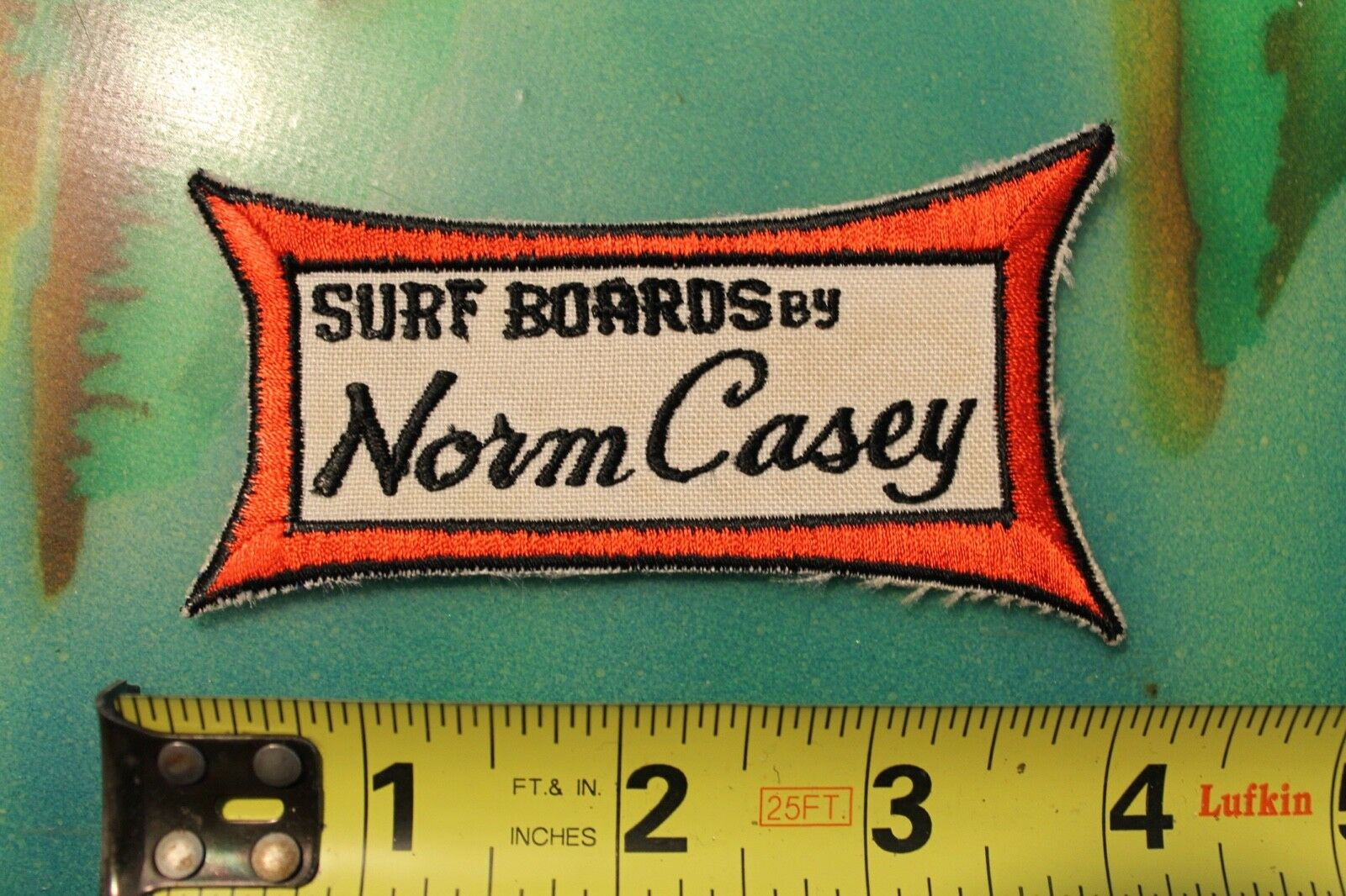 NORM CASEY Surfboards Longboard Dewey Weber-Type Logo 60's Vintage Surfing PATCH