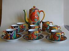 Rare Original Art Deco Royal Winton Coffee Set 'Jazz'