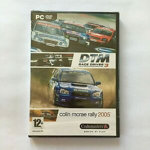 DTM-Race-Driver-3-Colin-McRae-Rally-2005-PC-GAME-DVD-ROM-New-amp-SEALED