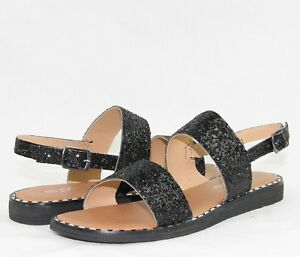 d8aef9e2 Details about Women Comfortable New Summer Sandals Shiny Bling Glitter  Sequin Shoes Flat Heels