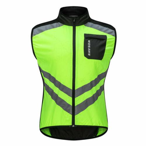 Men/'s Cycling Vest MTB Gilet Bike Hi Viz Sleeveless Jersey Waterproof Tops Coat